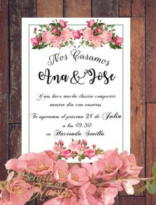 Diseño regalo invitacion floral