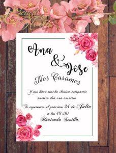 Diseño invitaciones de boda Regalo